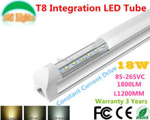 1.2M 18W Ultra Bright T8 Integration LED Tube 90-260VAC CE RoHS supermarket lights Parking energy-saving lamps 10PCs a Lot