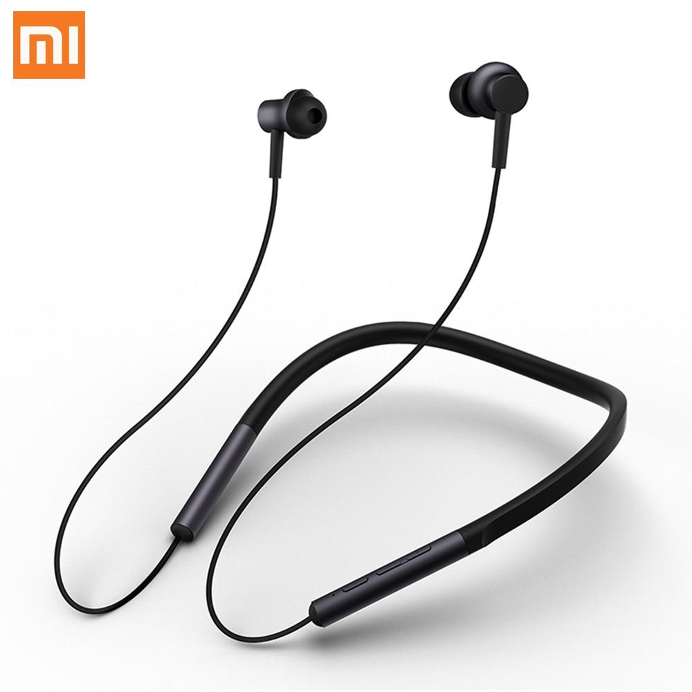 Xiaomi Bluetooth Collar Earphones Headset Sport Wireless Bluetooth Headphone In Ear Magnetic Mic Play Dual Dynamic