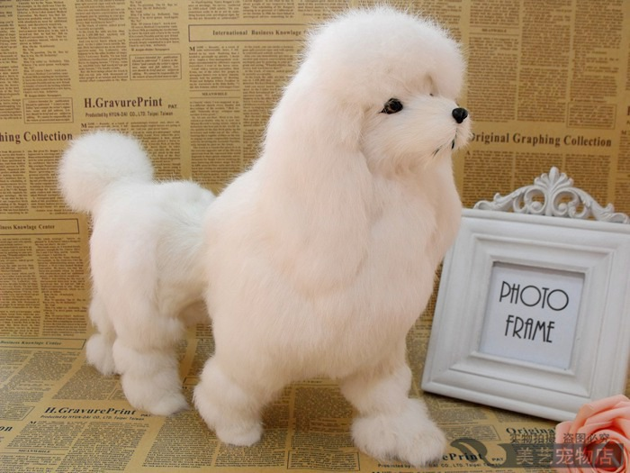 simulation poodle toy dog 36x12x30cm toy model polyethylene&furs dog model home decoration props ,model gift d144 new simulation red fox toy polyethylene