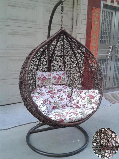 Indoor Outdoor Carpet Basket Rattan Swing Hanging Chair Balcony Chairs With Armrests Double