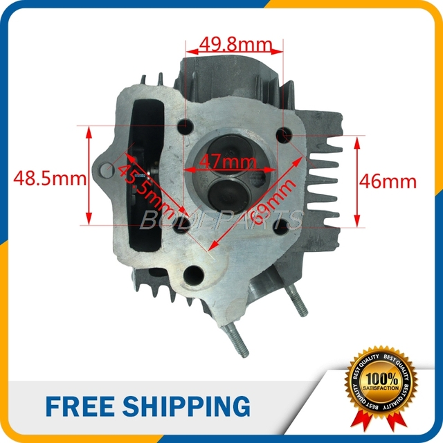 Motorcycle Dirt Pit Bike Parts 70cc Engine Cylinder Head For
