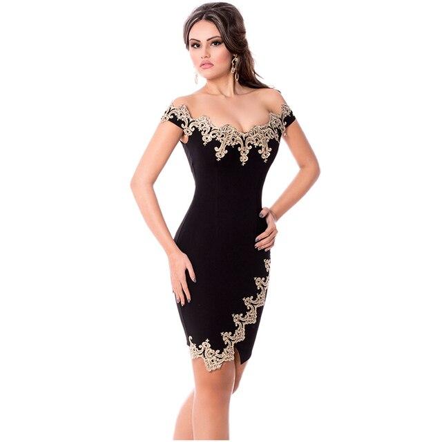 ZKESS Bodycon Dress Midi Pencil Dresses Slim 2016 Elegant Bodycon Black O-neck Sexy Sheath Short Sleeve Sheer Dresses LC61188