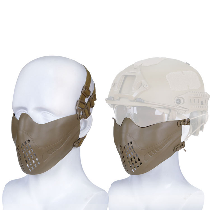New Airsoft Half Face Military Tactical Mask Protective Army Airsoft Mask For Outdoor Hunting Paintball Shooting Accessories