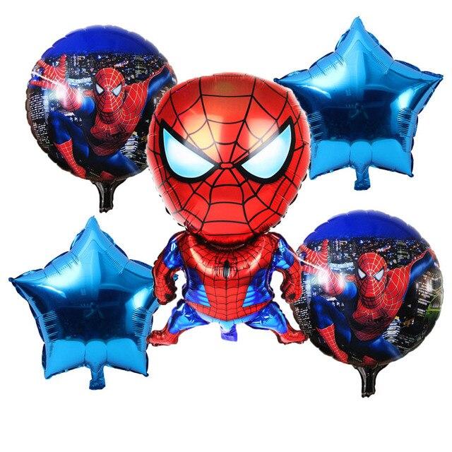 5 pcs Superman Spiderman Batman herói balões de hélio inflável balão para a festa de crianças aniversário do bebê brinquedos das crianças por atacado