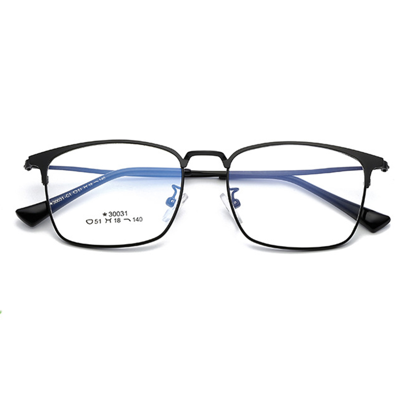 Business Men Prescription Eyeglasses With Diopters Vintage Square Frame Myopia Glasses Optical Computer Glasses Hyperopia Gafas