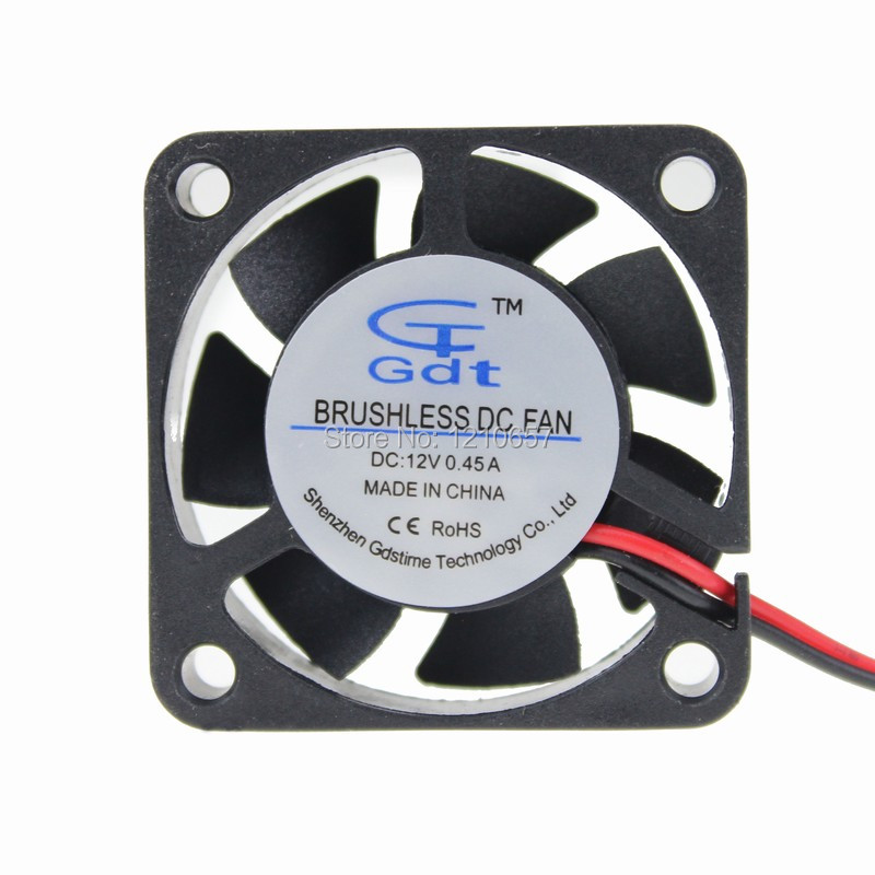 2Pieces LOT Gdstime 40mm 4010B 4cm 40x10mm DC 12V 2Pin Ball Mini Motor Cooling Fan High Speed high quality new ym1204pfb3 4010 4cm 12v 0 04a ultra quiet double ball bearing fan for first union 40 40 10mm