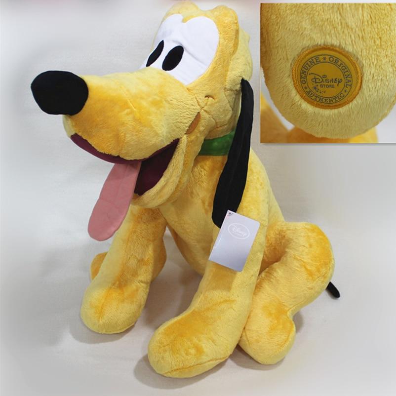 Sitting 50cm=19.6inch Original Mickey Mouse Clubhouse Huge Pluto Dog Stuffed animals plush Toys High quality Pelucia boy doll детская плюшевая игрушка oem 1 kwaii hamtaro peluche pelucia trotting hamtaro plush toys