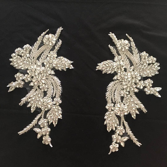 2018 New Deluxe High Quanlty Bridal Rhinestones Applique, Bead Glass  With Vintage Design, Haute Couture Wedding Collar