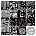 BORN PRETTY 15Pcs Nail Stamping Plate Square Template Pretty Nail Stamping Image Plate Manicure Stencils 6*6cm BP-X01~X15