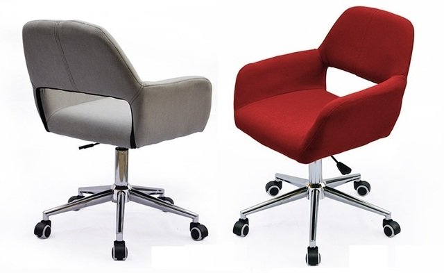 Great Germany Hanover Exhibition Reception Chair Conference Organizer Lift Stool  Cotton Linen Seat Red Color Free Shipping