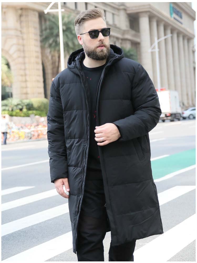 New winter fashion man's duck   down   long   coat   & jacket warm parkas for male with a hood hat black green 5xl 6xl 7xl 8xl 9xl 10xl