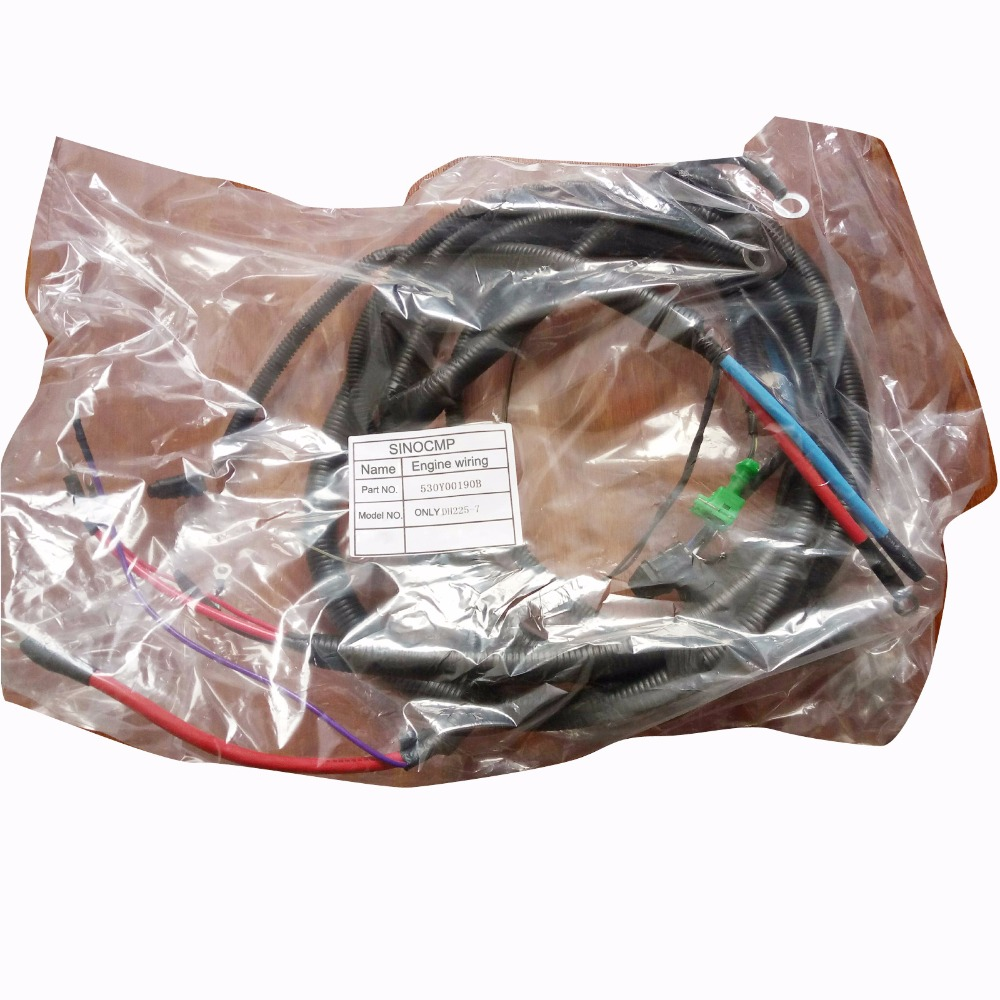 Dh225 7 Engine Wiring Harness 530y00190b For Daewoo Doosan Excavator Wire Cable In A C Compressor Clutch From Automobiles Motorcycles On Fuel Pump