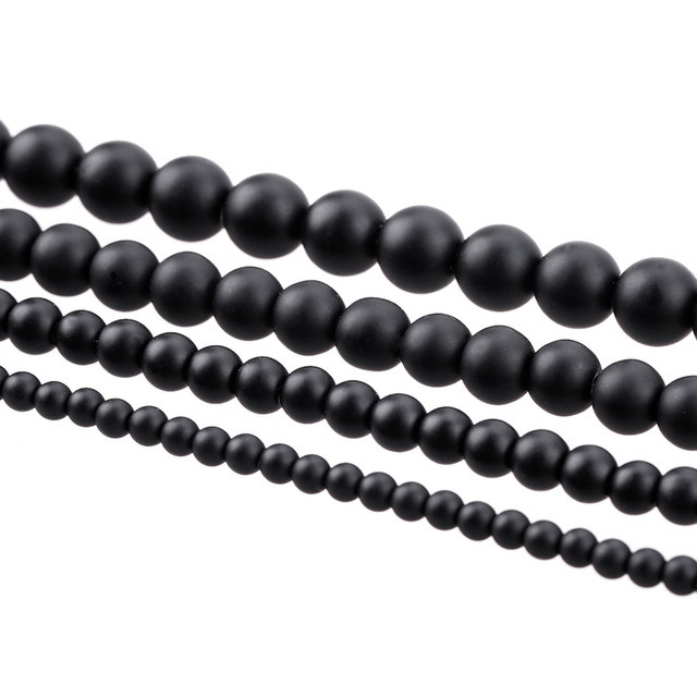 5A quality black matt  natural stone jewelry production Diy bracelet necklace Strand4MM 6MM 8MM 10MM 12MM beads bead