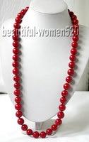 Z1671 вау бигер 32 15 мм круглый красный натуральный коралл ожерелье