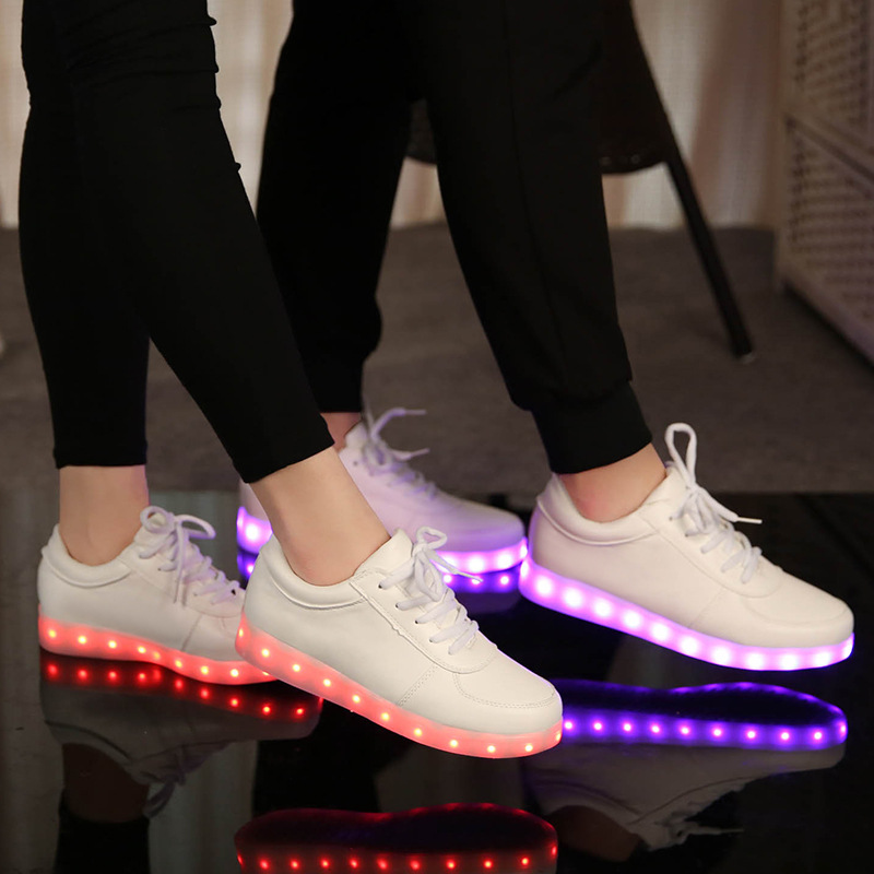 KRIATIV 7 color LED LUMINOUS SNEAKERS Usb charging kids Light up shoes luminous sneakers fashion glowing shoes led infant