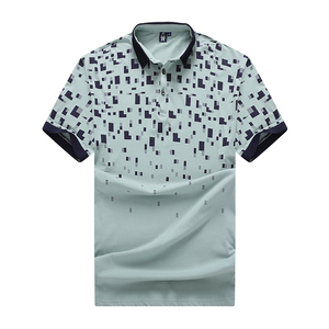 Image 3 - زائد 10XL 8xl 6xl جديد ماركة بولو رجل طبع قمصان بولو القطن كم قصير camisas بولو عارضة موقف طوق الذكور قميص بولو