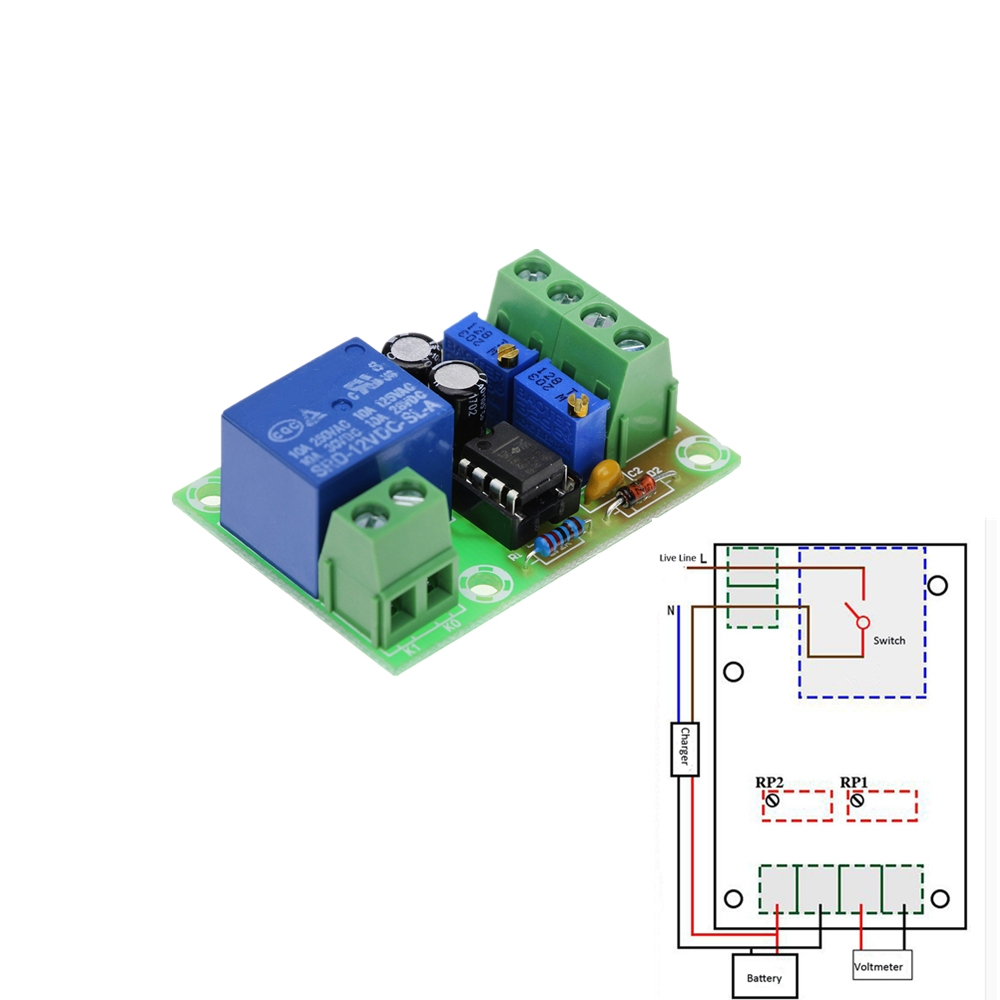 hight resolution of xh m601 intelligent charger power control panel automatic charging power 12v battery charging control board in relays from home improvement on