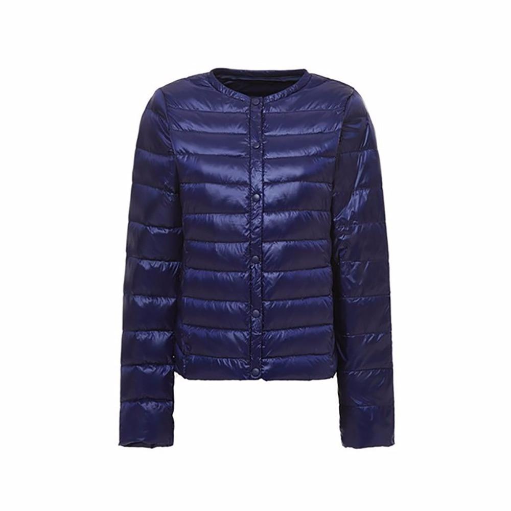 2018 Autumn Winter Women   Down   Jacket Ultra Light 90% White Duck   Down   Light weight Parkas Female Warm Slim Thin Short   Coat   Plus