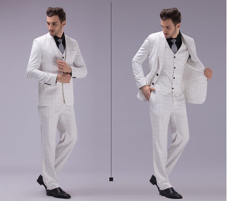 White Wedding Suits For Men 2015 Hot Sale High Quality Young Style ...
