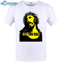 2017 Newest Guns And Roses Rock N Roll Music Jesus T Shirts Kill Your Idols Tee