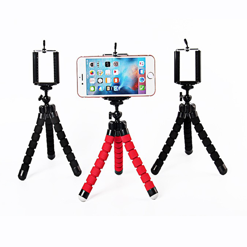Phone Holder Flexible Octopus font b Tripod b font Bracket Stand Mount Monopod Adjustable Accessories for