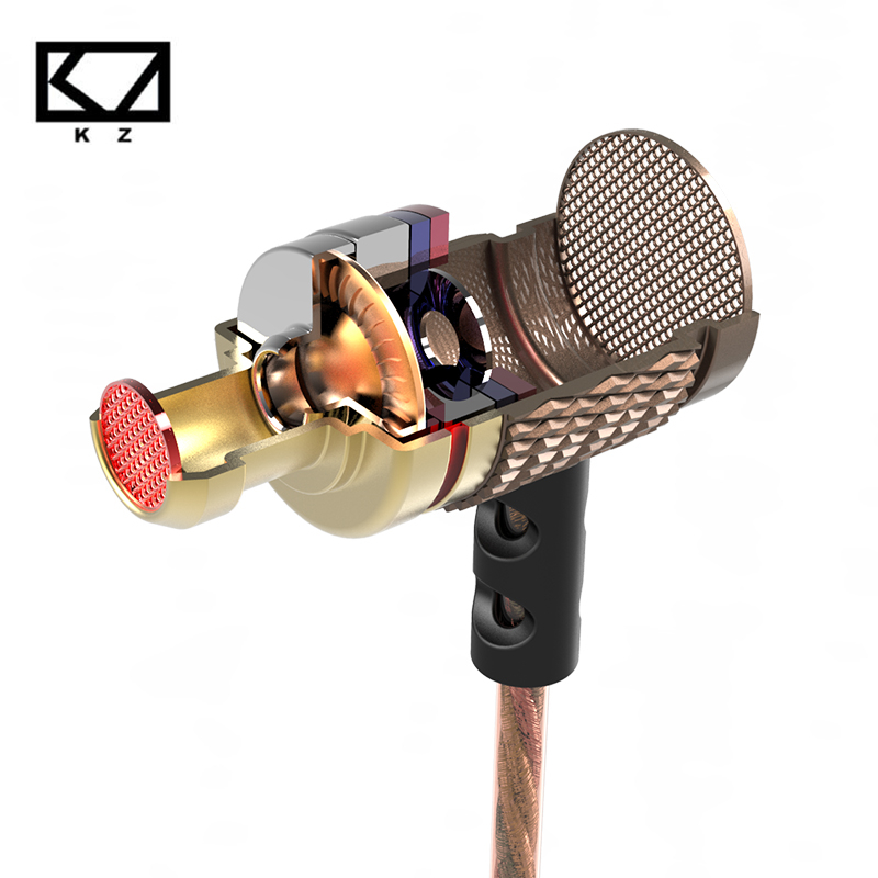 Good Bass 100% Original Metal In Ear Earphone KZ EDR1 High Quality HiFi Sport In-ear Earbud Auricular With Microphone hot sale original kz ates ate atr hd9 copper driver hifi sport headphones in ear earphone for running with microphone smartphone