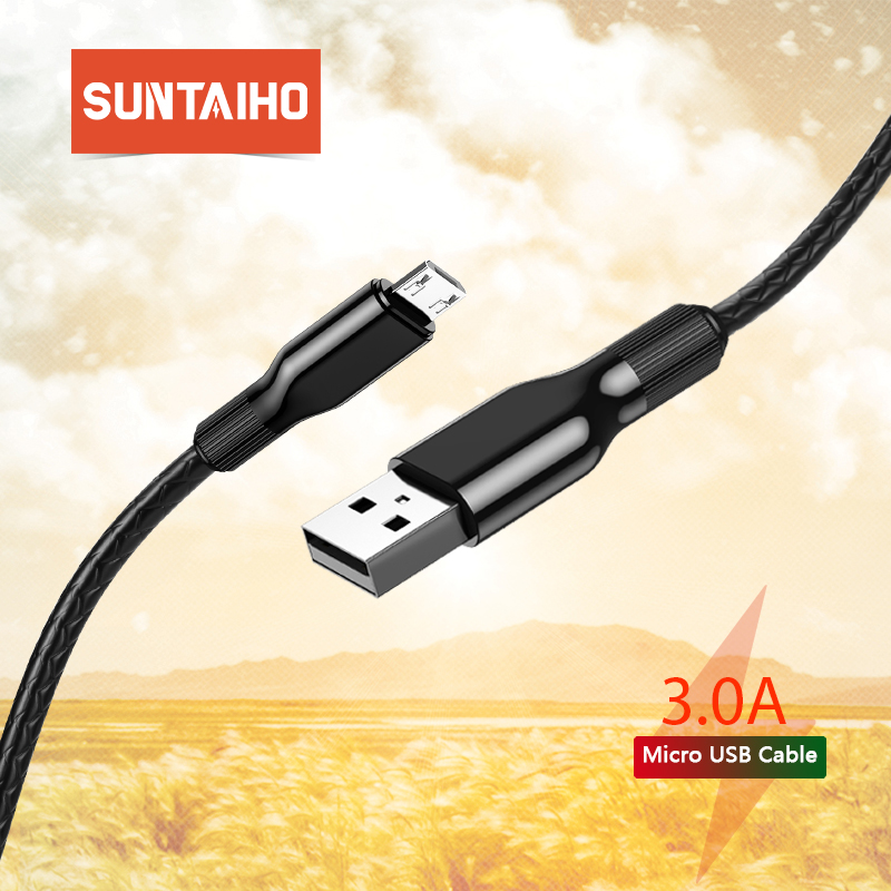 Suntaiho Micro USB Cable 2.4A Nylon Fast Charge USB Data Cable for Samsung Xiaomi Tablet