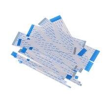 Passo liso flexível 0.5mm 100mm do cabo da fita de 10 pces fpc b-type 4/6/8/10/12/16/20/24/26/28/30/34/36/40/45/50/54/60pin