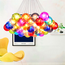 Modern LED Bubble Chandelier Lighting Color Ball Lamp Home Decor Dimming Hanging Lamp Bedroom Living Room Indoor Children Room(China)
