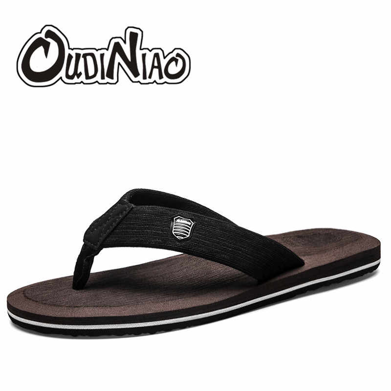0b7866d419ee20 OUDINIAO Outside Home Slippers Men Summer Fashion 2018 Solid Slip On Mens  Shoes Flip Flops EVA
