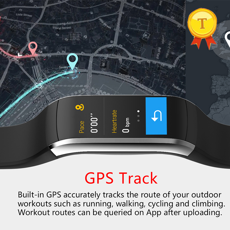 Waterproof touch screen swim Smart Band IP68 GPS tracking Health Monitor GPS Pedometer Heart Rate Monitor Smartband for iphone 6-in Smart Wristbands from Consumer Electronics    2
