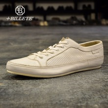 Billete Italian Designer Brand Vintage Men's Casual Shoes Fashion Handmade Genuine Leather White Bass Breathable Male Shoes