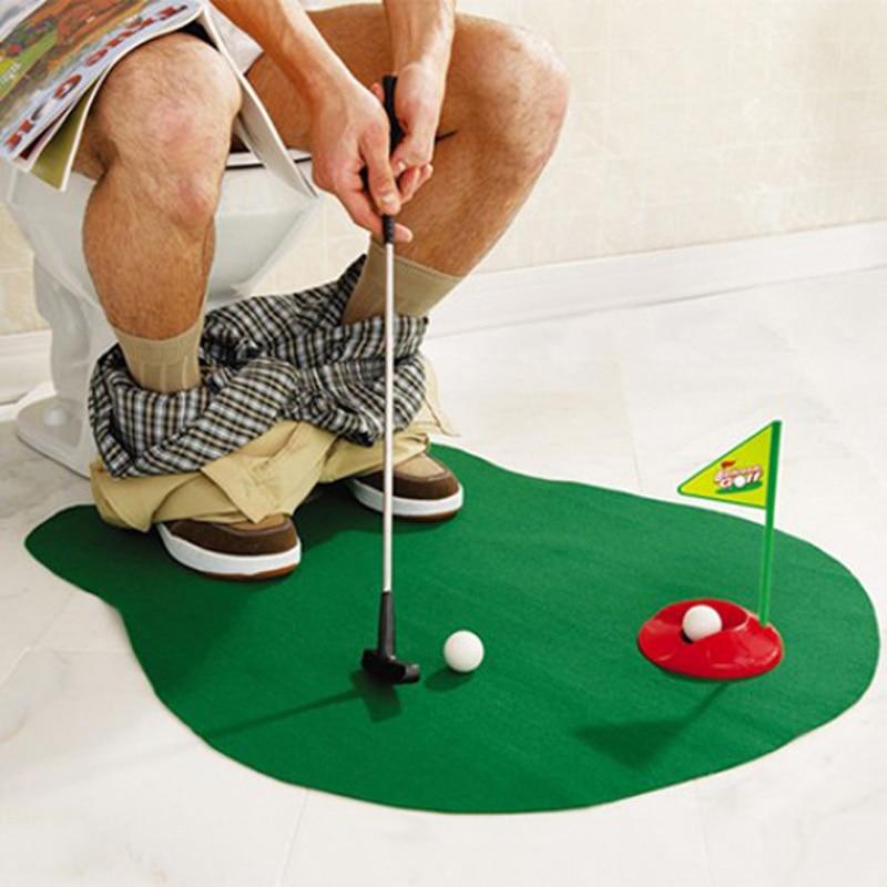 Golf Wc Mat.Grappige Mini Badkamer Wc Golf Mat Novelty Toys Washroom