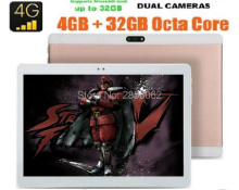 10 pulgadas Octa Core Tablet pc 4G LTE 8 Núcleos 4 GB RAM 64 GB ROM Cámaras Duales 8.0MP 1920*1200 IPS GPS WiFi MID Tablets GPS + Regalos