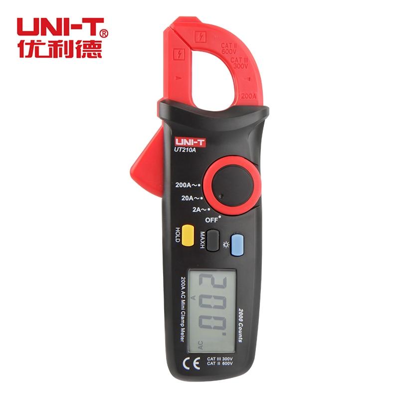 Multimeter UNI T UT210A True RMS AC DC Current Mini Clamp Meters W Capacitance Tester Digital