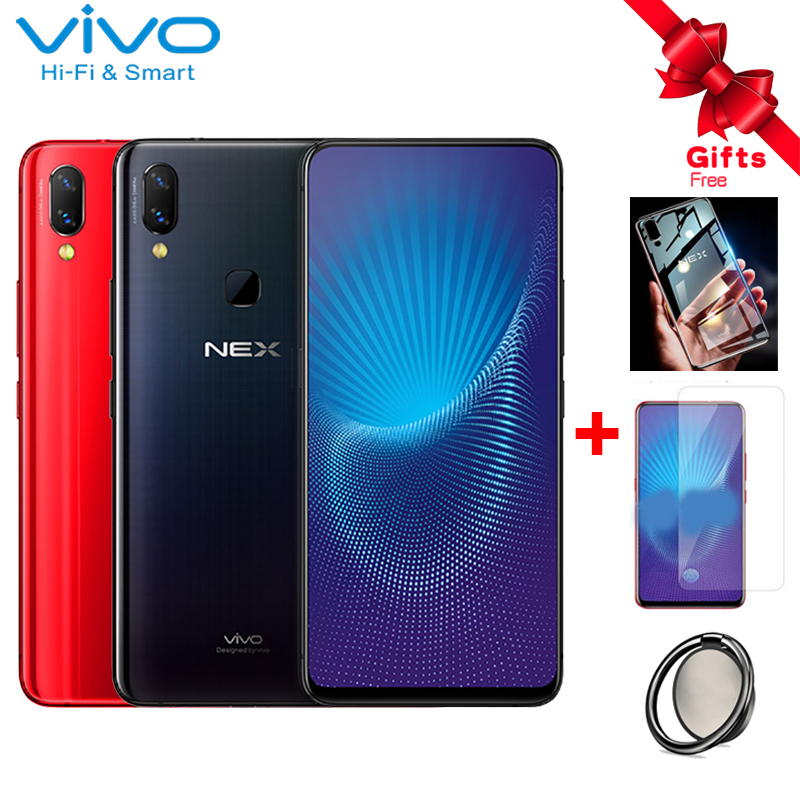 Vivo Nex Mobile Phone 6.59 Full Screen 6GB RAM 128GB ROM Snapdragon 710 Octa Core Android 8.1 Auto-elevated Camera Smartphone