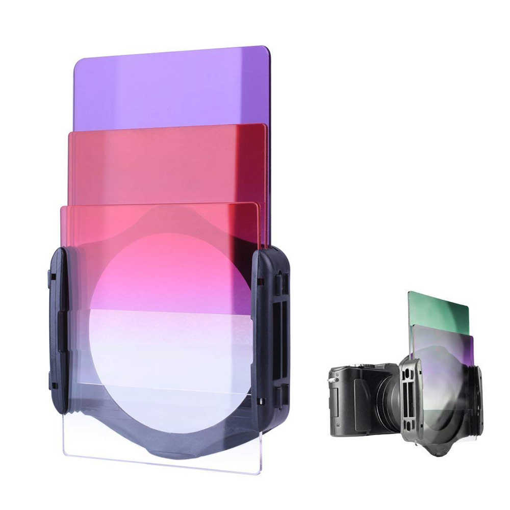 กล้องสำเร็จการศึกษาสีเลนส์กรองความหนาแน่น Neutral Gradual ND เรซิ่นสแควร์ตัวกรองสำหรับ Cokin P Series สำหรับกล้อง DSLR เลนส์
