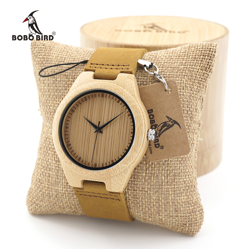 BOBOBIRD men Brand Design Bamboo Wooden Watch Japanese iyota Quartz Movement Watch with Real Leather Band in Gift Box 2016 bobo bird top brand bobobird men s bamboo wooden bamboo watch quartz real leather strap men watches with gift box