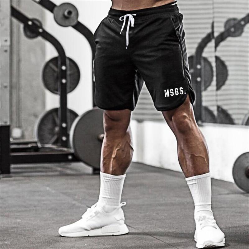 Muscle Guys 2020 Summer Brand Fitness Shorts Men Cotton Bodybuilding Bermuda Cargo Shorts Gyms Workout Sweat Short Pants