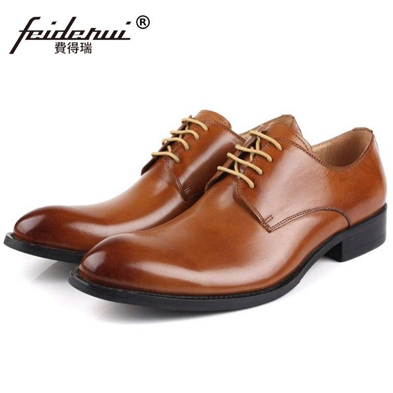 Vestido Lujo De Marca Boda Nupcial Calzado Eh44 Zapatos Cuero chocolate Para Hombres Hombre Oxfords Elegante Formal marrón Negro Partido Diseñador Del Auténtico Pvq7Iq4
