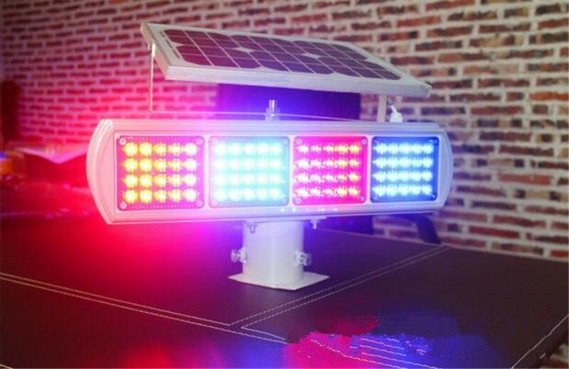 Feux de signalisation solaires Led clignotants feux de route