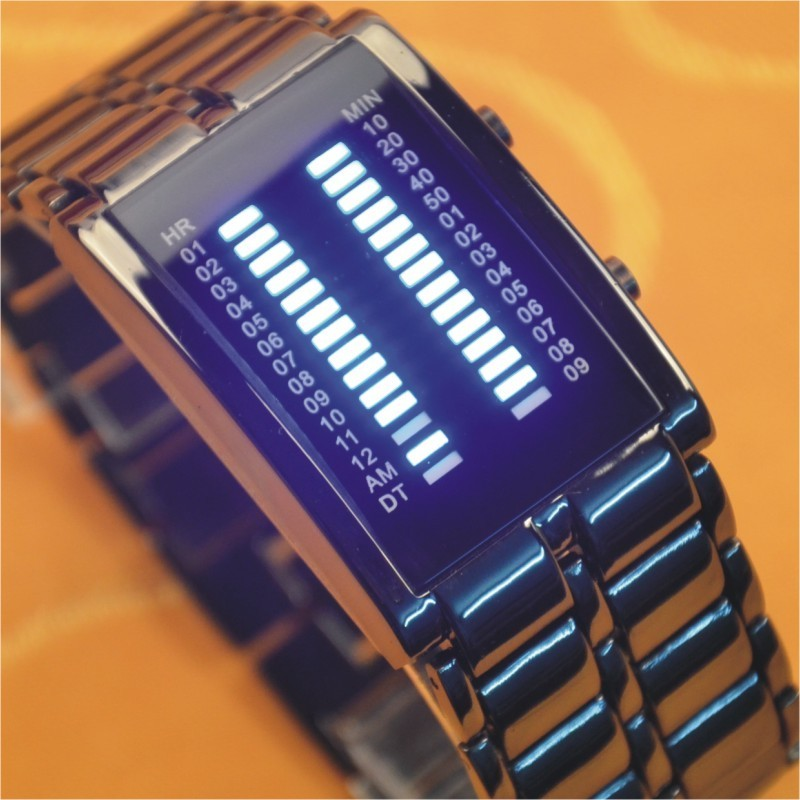 Trend led waterproof male table bracelet personalized watches