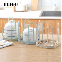 FEIGO 1Pc Kitchen Tableware Bowl Spoon Rack Multi-Functional Storage Creative Multi-Color Drainage Accessories F748