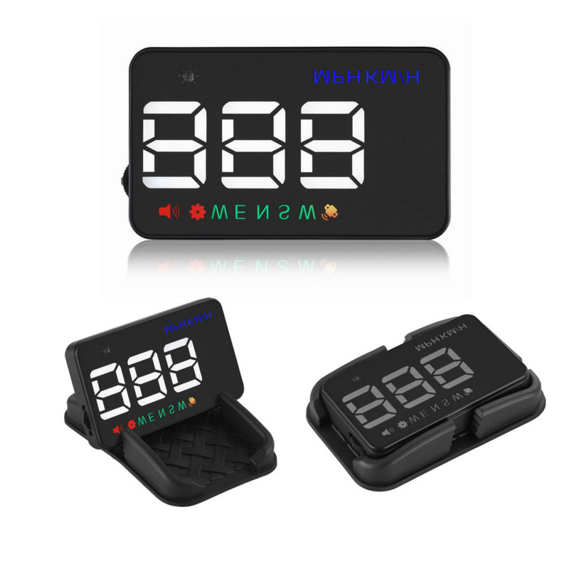 Universal Car HUD GPS Speedometer Speed Head Up Display A5 Digital Over Speed Alert Windshield Projetor          Auto Navigation