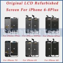 الصف AAA + + + الأصلي شاشة LCD تجديد ل فون 5S 5SE 6 6S زائد الأصلي شاشة الكريستال السائل محول الأرقام بشاشة تعمل بلمس