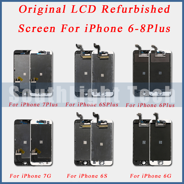 Grade AAA+++ Original LCD Refurbished Screen Display For iPhone 5S 5SE 6 6S Plus Original LCD Display Touch Screen Digitizer image