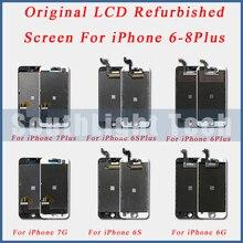 Grau aaa + + + original lcd remodelado screen display para o iphone 5S 5se 6 s mais original display lcd de toque digitador da tela