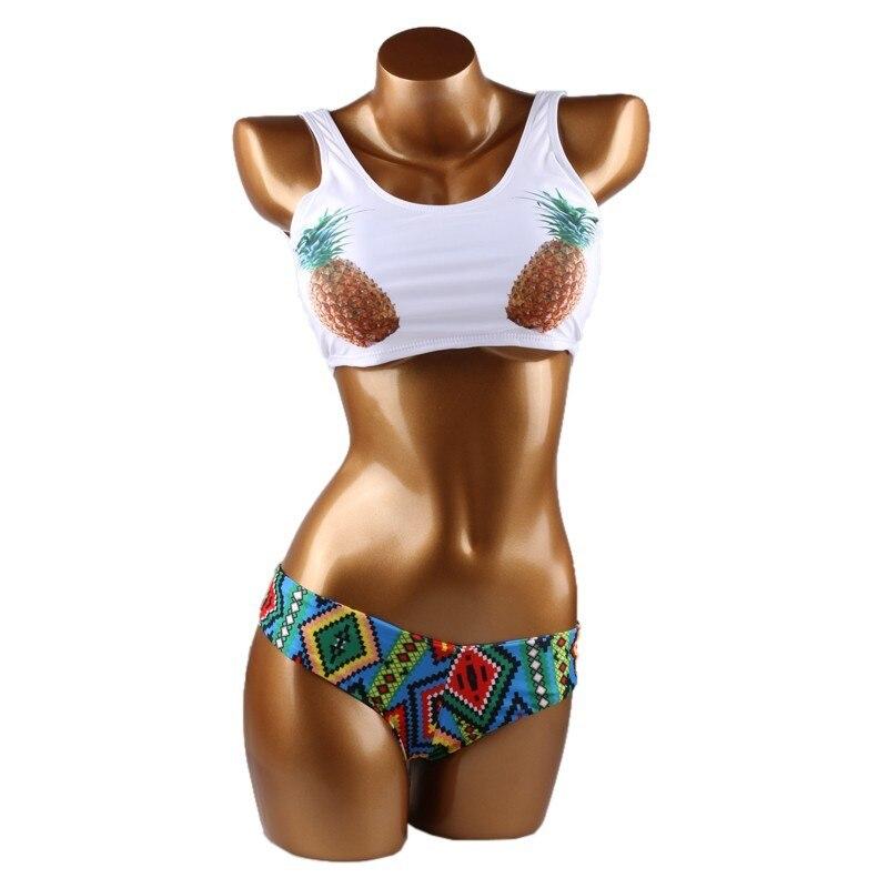 Yeni Seksual Bikini Ananas Çimərlikləri Braziliya Bikinisi - İdman geyimləri və aksesuarları - Fotoqrafiya 4