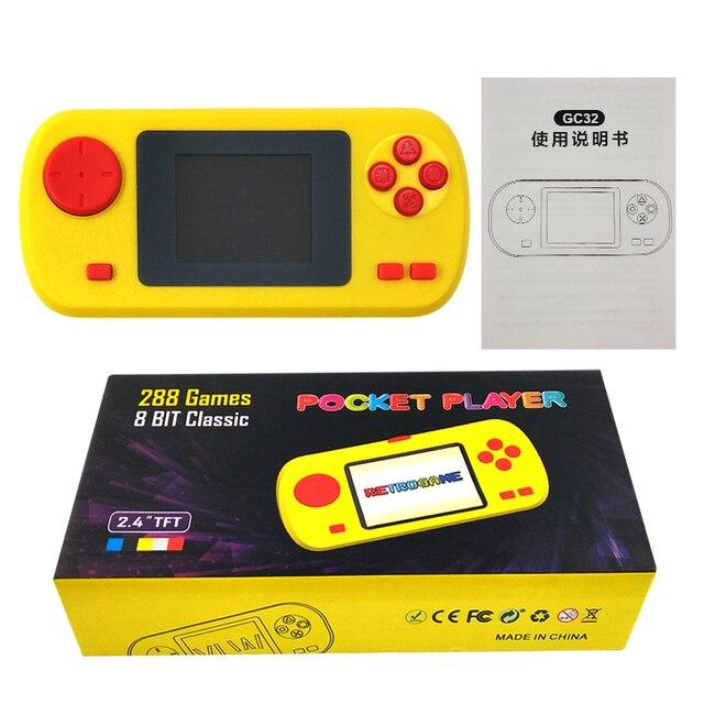 내장 288 게임 포켓 비디오 디스플레이 게임 컨트롤러 휴대용 게임 콘솔 플레이어 선물