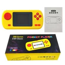 Incorporado en 288 juegos de bolsillo Video pantalla de juego controlador consola de juegos portátil jugador regalo